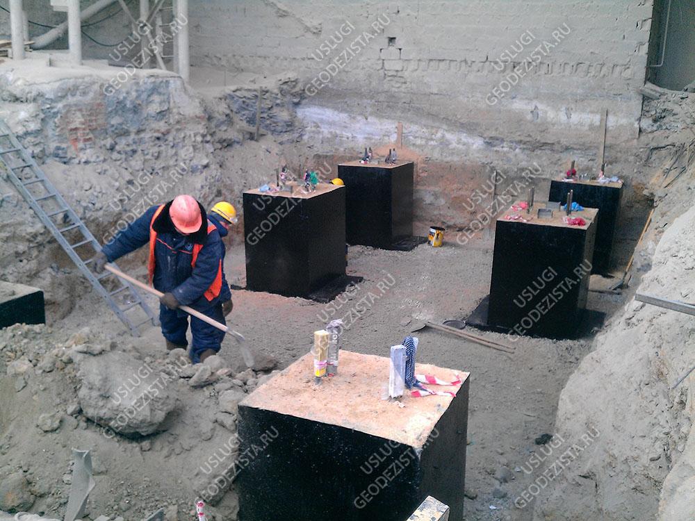 Замеры просадки фундамента