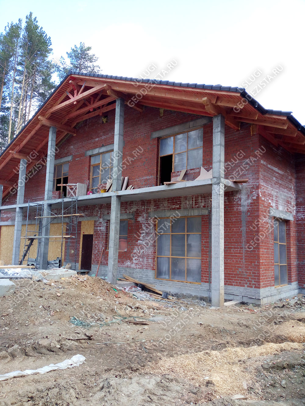 Разбивочные работы частного дома