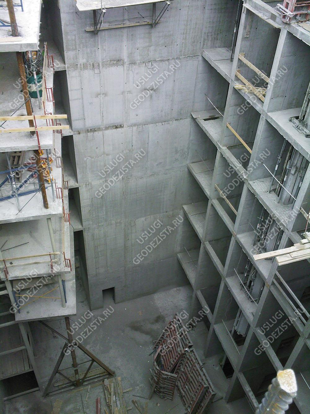 Разбивка бетонных конструкций