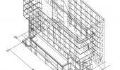 Каркас здания в AutoCAD